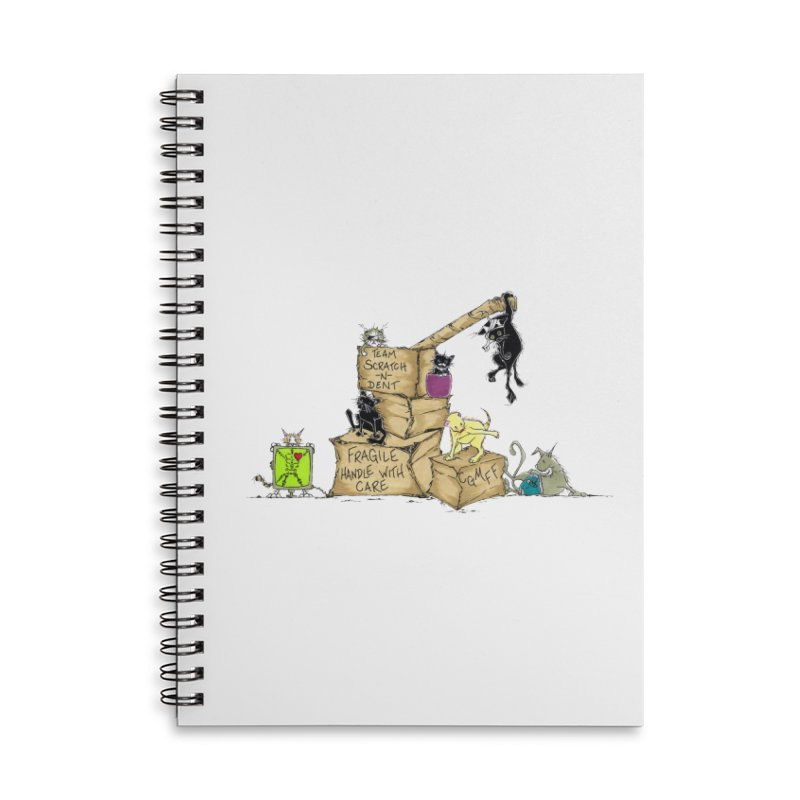 Team Scratch N' Dent Accessories Lined Spiral Notebook by CGMFF