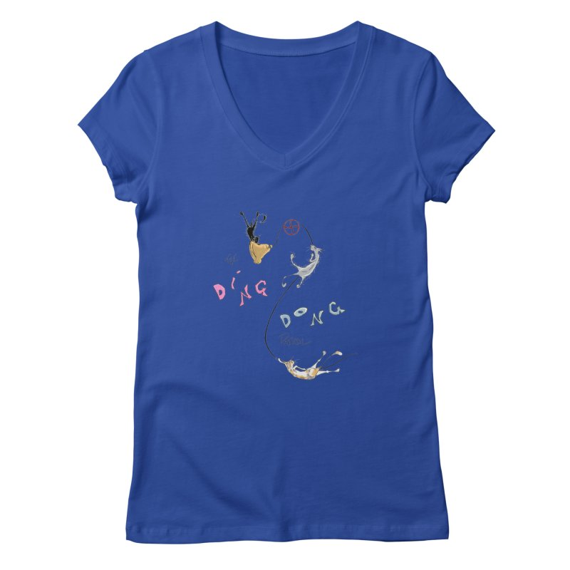 The Ding Dong Patrol! Women's Regular V-Neck by CGMFF