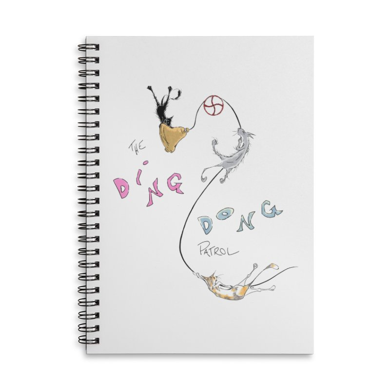 The Ding Dong Patrol! Accessories Lined Spiral Notebook by CGMFF