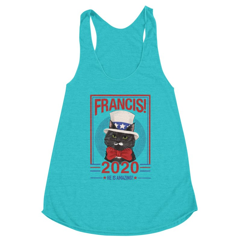 Francis! 2020  He IS Amazing! Women's Racerback Triblend Tank by CGMFF
