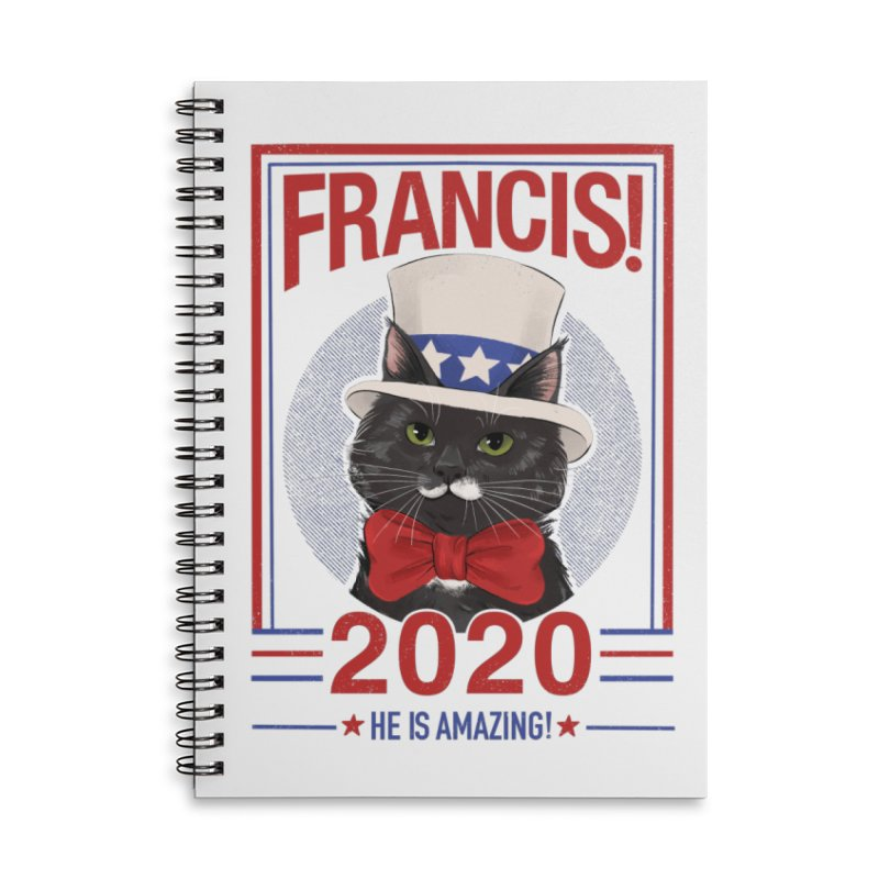 Francis! 2020  He IS Amazing! Accessories Lined Spiral Notebook by CGMFF
