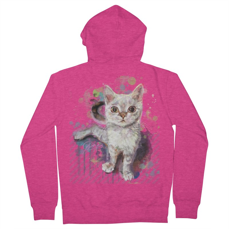 The Incredible Pettable Eggbert! Women's French Terry Zip-Up Hoody by CGMFF