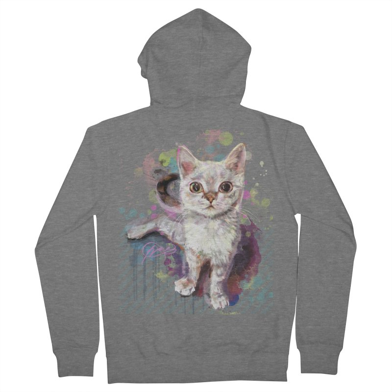 The Incredible Pettable Eggbert! Men's French Terry Zip-Up Hoody by CGMFF