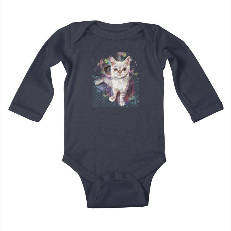The Incredible Pettable Eggbert! Kids Baby Longsleeve Bodysuit by CGMFF