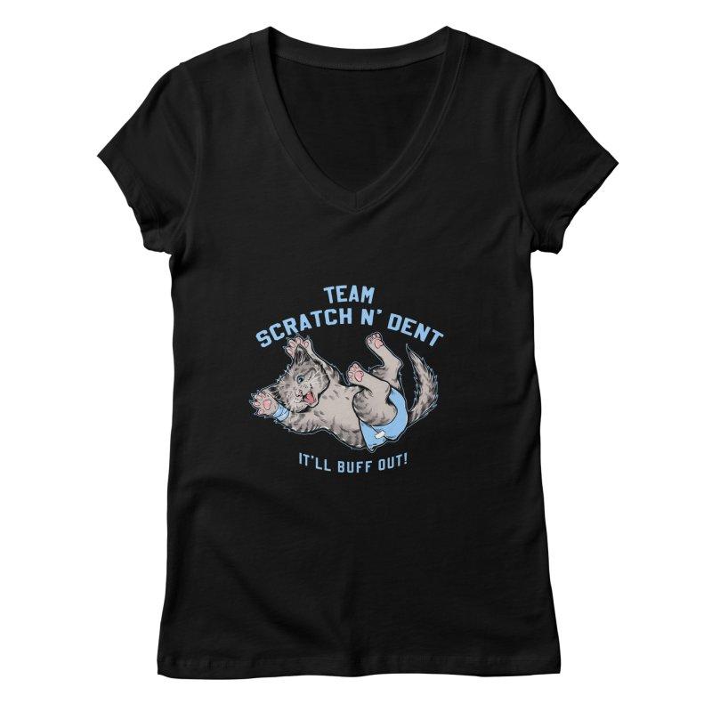 Team Scratch N' Dent Women's V-Neck by CGMFF
