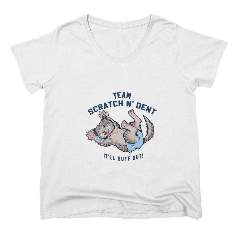 Team Scratch N' Dent (dark font) Women's Scoop Neck by CGMFF
