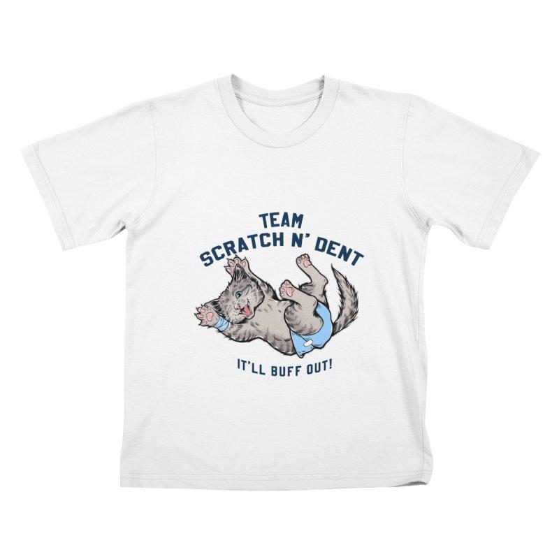Team Scratch N' Dent (dark font) Kids T-Shirt by CGMFF
