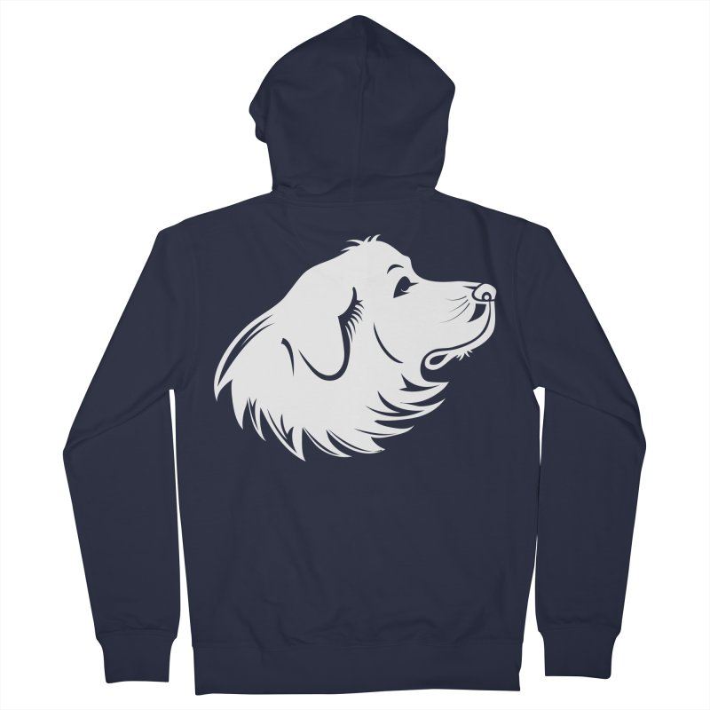 Majestic Pyrenees Women's French Terry Zip-Up Hoody by Carolina Great Pyrenees Rescue's Shop