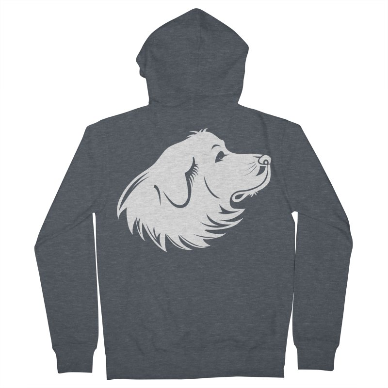 Majestic Pyrenees Men's French Terry Zip-Up Hoody by Carolina Great Pyrenees Rescue's Shop