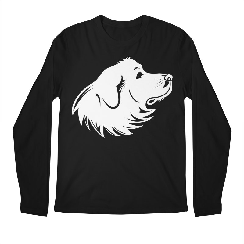 Majestic Pyrenees Men's Regular Longsleeve T-Shirt by Carolina Great Pyrenees Rescue's Shop