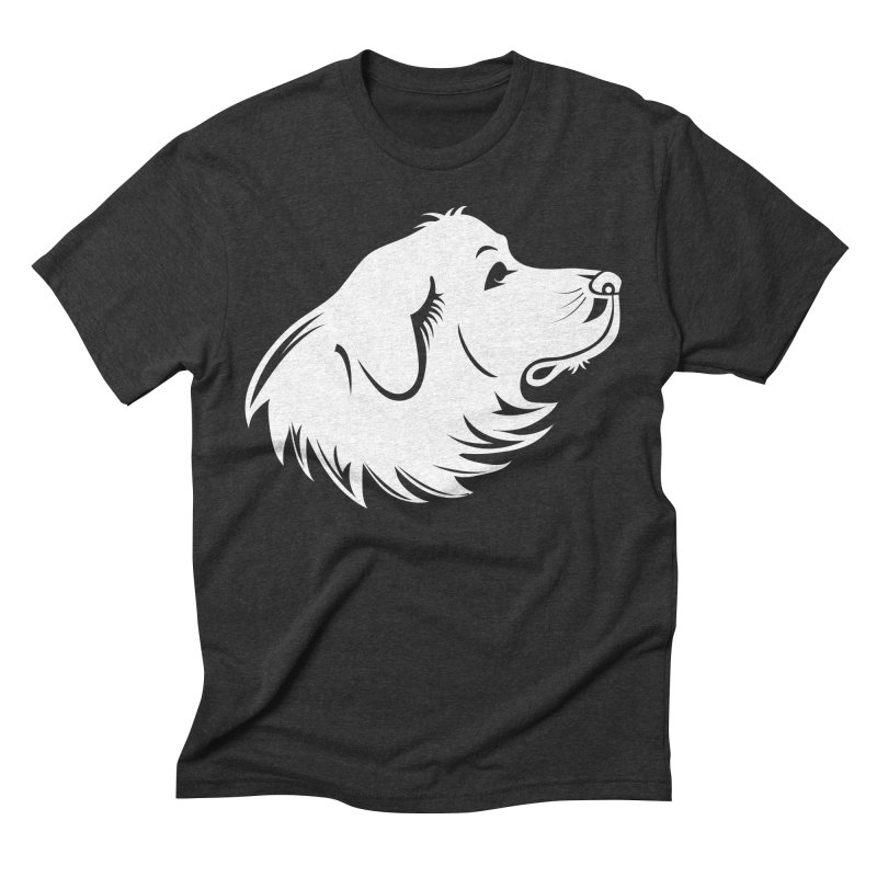 Majestic Pyrenees Men's Triblend T-Shirt by Carolina Great Pyrenees Rescue's Shop