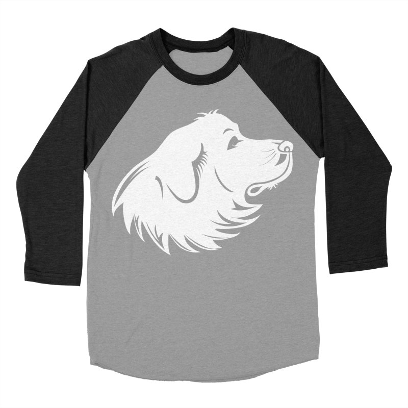 Majestic Pyrenees Women's Baseball Triblend T-Shirt by Carolina Great Pyrenees Rescue's Shop