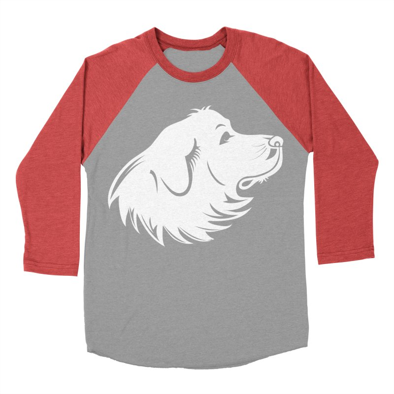Majestic Pyrenees Men's Baseball Triblend T-Shirt by Carolina Great Pyrenees Rescue's Shop
