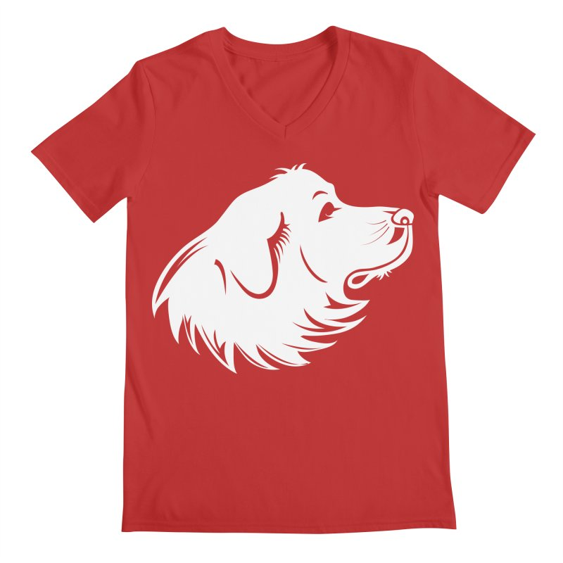 Majestic Pyrenees Men's V-Neck by Carolina Great Pyrenees Rescue's Shop
