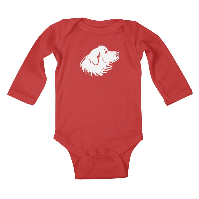 Majestic Pyrenees Kids Baby Longsleeve Bodysuit by Carolina Great Pyrenees Rescue's Shop