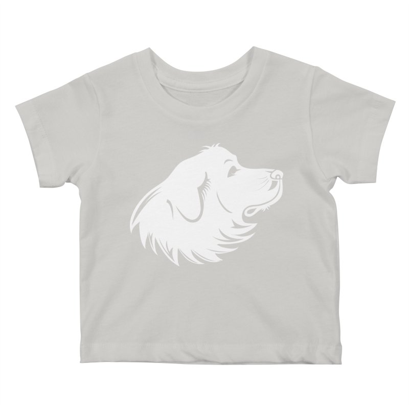Majestic Pyrenees Kids Baby T-Shirt by Carolina Great Pyrenees Rescue's Shop