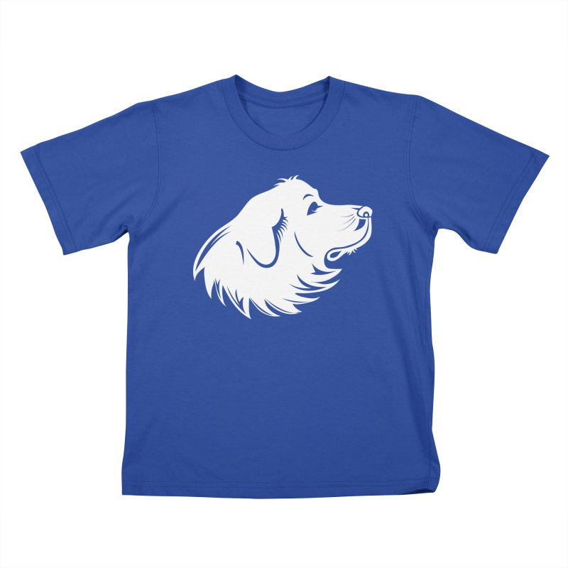 Majestic Pyrenees Kids T-Shirt by Carolina Great Pyrenees Rescue's Shop