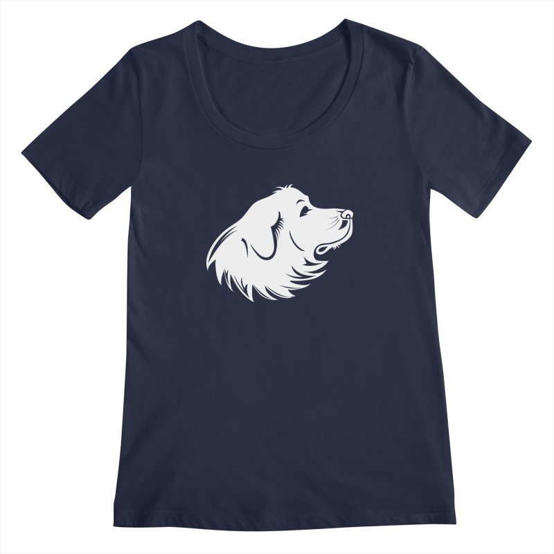 Majestic Pyrenees Women's Regular Scoop Neck by Carolina Great Pyrenees Rescue's Shop