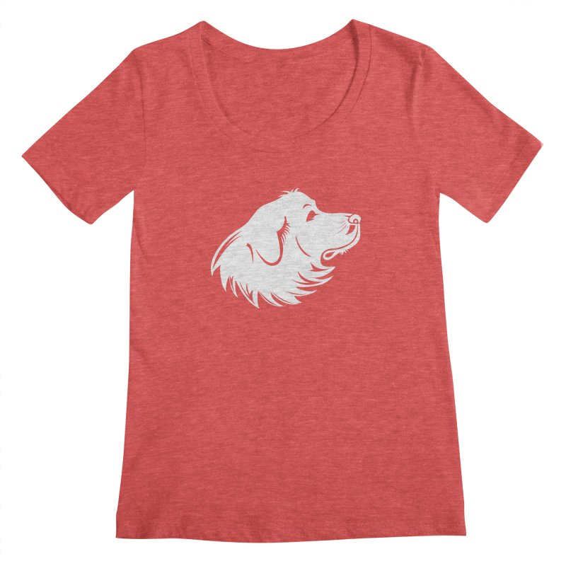 Majestic Pyrenees Women's Scoopneck by Carolina Great Pyrenees Rescue's Shop