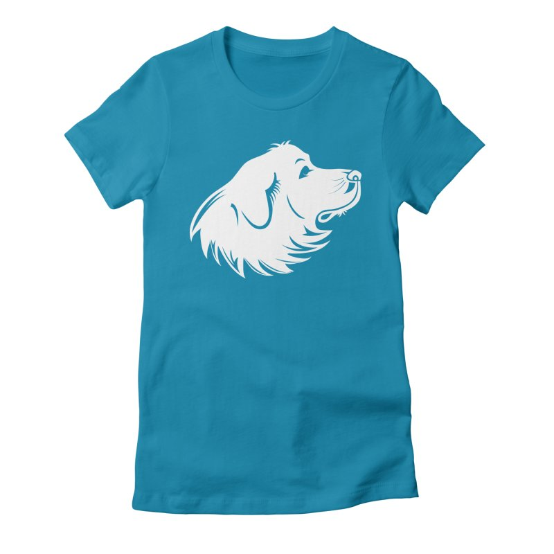 Majestic Pyrenees Women's Fitted T-Shirt by Carolina Great Pyrenees Rescue's Shop