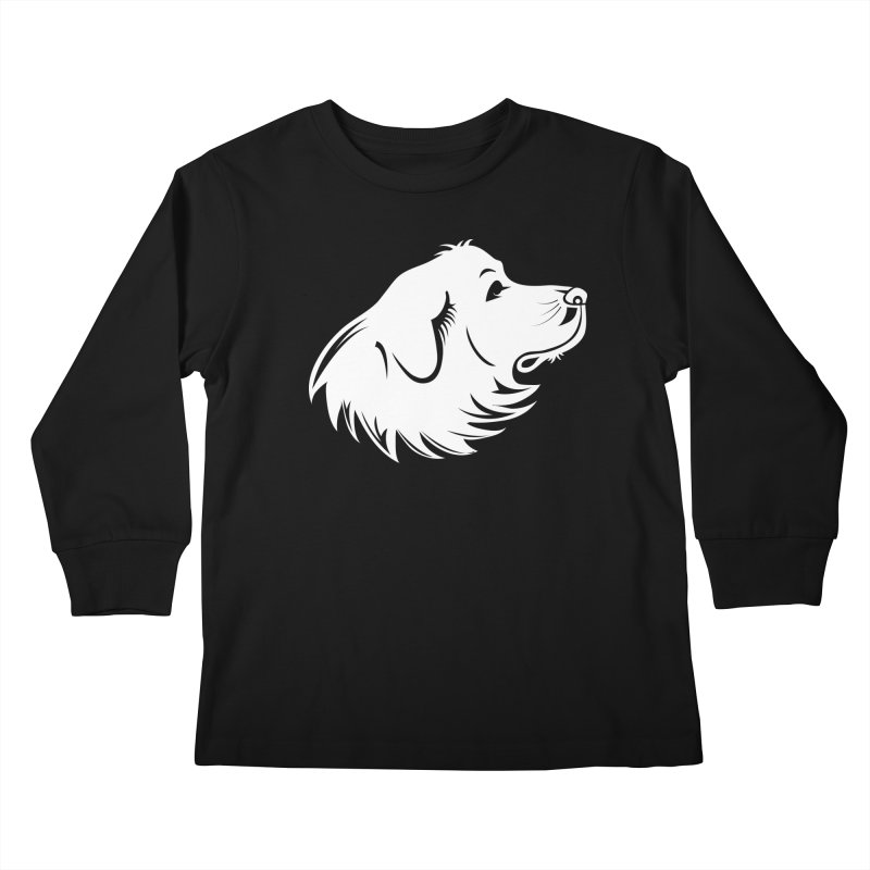 Majestic Pyrenees Kids Longsleeve T-Shirt by Carolina Great Pyrenees Rescue's Shop