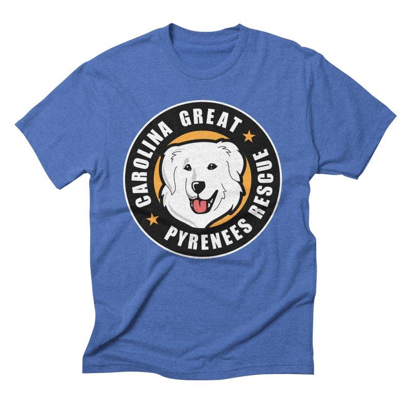 CGPR Logo Men's Triblend T-Shirt by Carolina Great Pyrenees Rescue's Shop