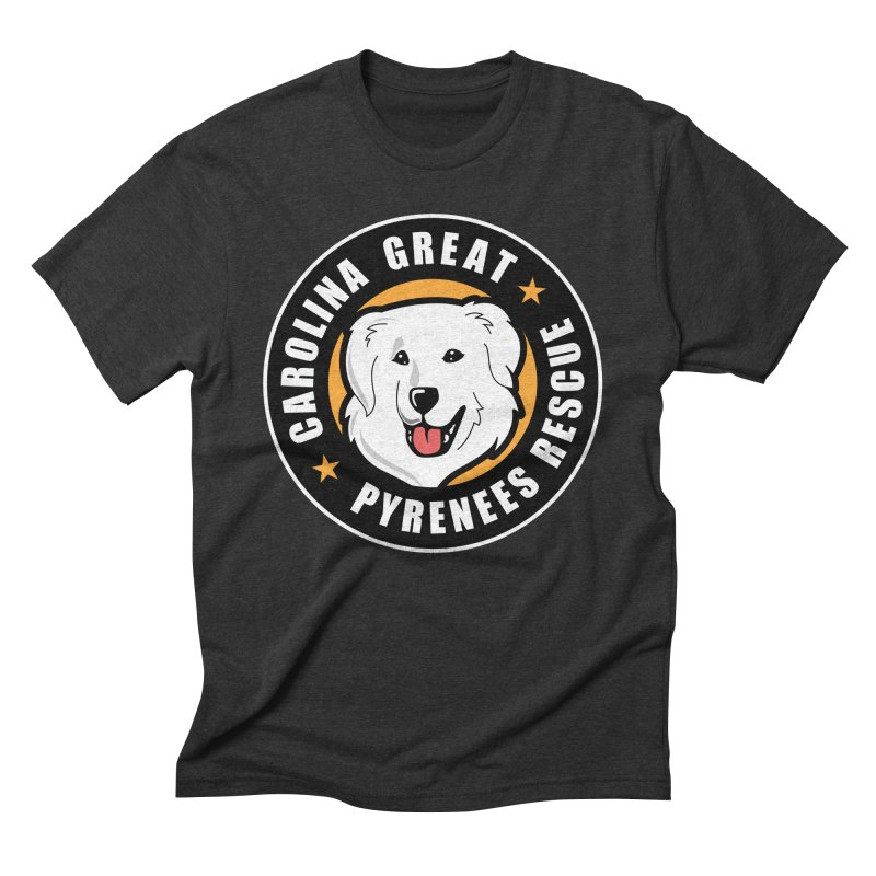 CGPR Logo Men's Triblend T-Shirt by Carolina Great Pyrenees Rescue's Shop