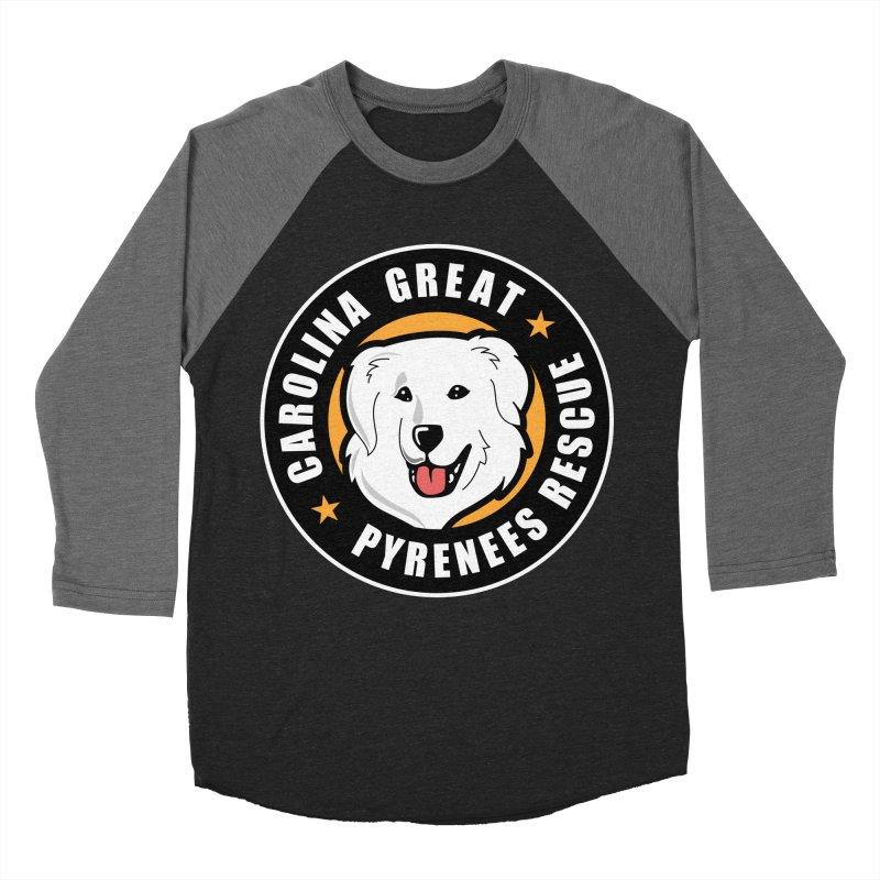 CGPR Logo Men's Baseball Triblend T-Shirt by Carolina Great Pyrenees Rescue's Shop