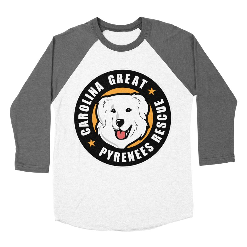 CGPR Logo Men's Baseball Triblend T-Shirt by Carolina Great Pyrenees Rescue's Shop