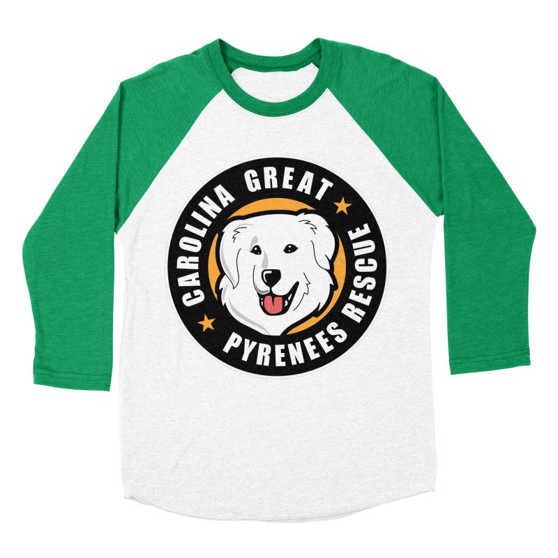 CGPR Logo Men's Baseball Triblend Longsleeve T-Shirt by Carolina Great Pyrenees Rescue's Shop