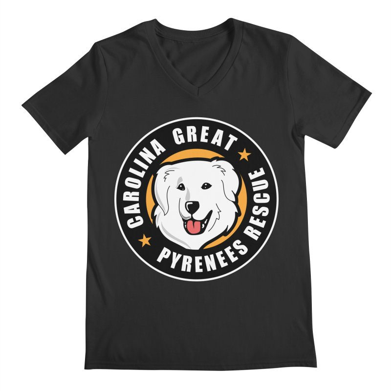 CGPR Logo Men's V-Neck by Carolina Great Pyrenees Rescue's Shop