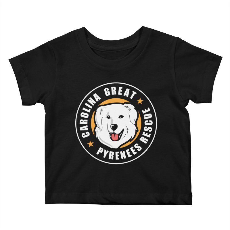 CGPR Logo Kids Baby T-Shirt by Carolina Great Pyrenees Rescue's Shop