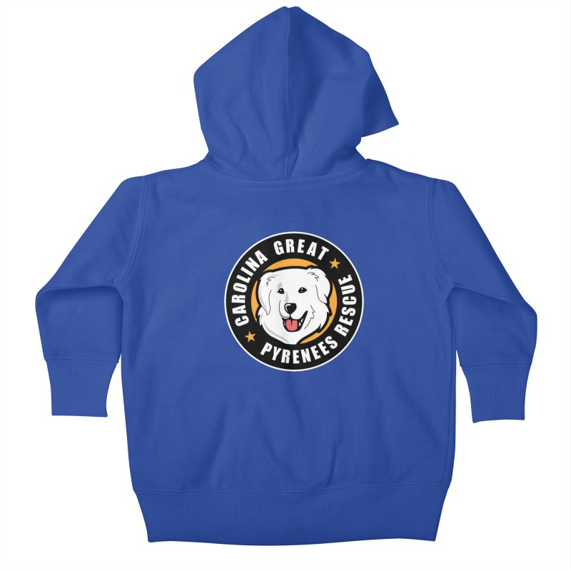 CGPR Logo Kids Baby Zip-Up Hoody by Carolina Great Pyrenees Rescue's Shop