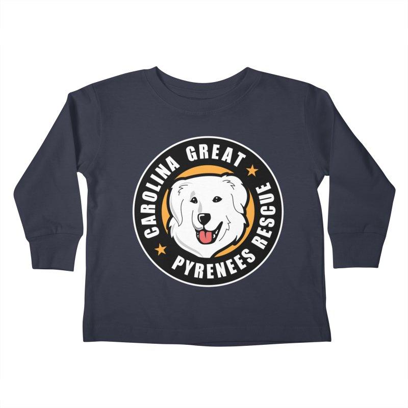 CGPR Logo Kids Toddler Longsleeve T-Shirt by Carolina Great Pyrenees Rescue's Shop