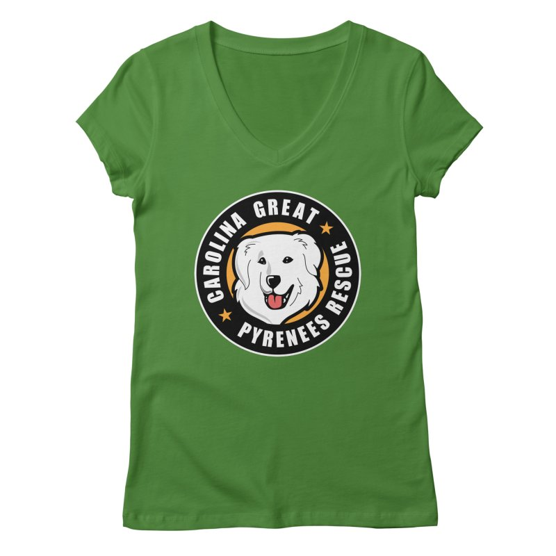 CGPR Logo Women's V-Neck by Carolina Great Pyrenees Rescue's Shop