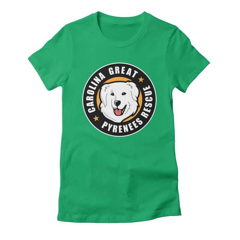 CGPR Logo Women's Fitted T-Shirt by Carolina Great Pyrenees Rescue's Shop