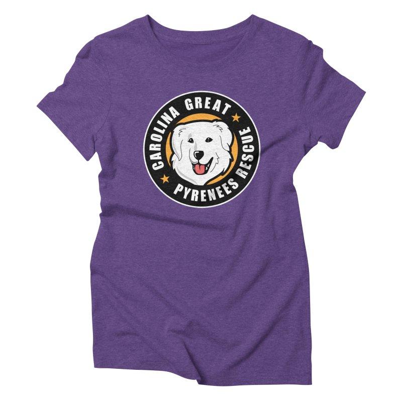 CGPR Logo Women's Triblend T-Shirt by Carolina Great Pyrenees Rescue's Shop