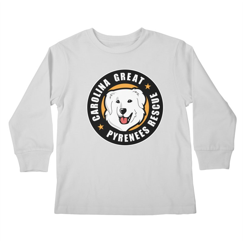CGPR Logo Kids Longsleeve T-Shirt by Carolina Great Pyrenees Rescue's Shop