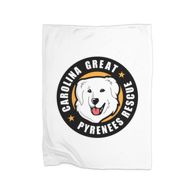 CGPR Logo Home Blanket by Carolina Great Pyrenees Rescue's Shop