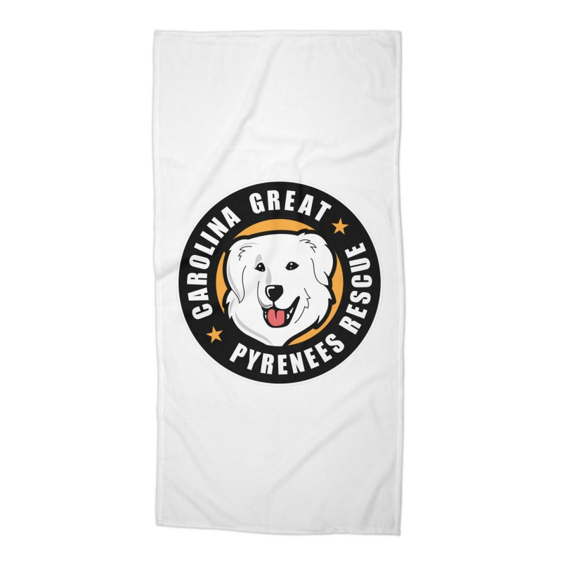 CGPR Logo Accessories Beach Towel by Carolina Great Pyrenees Rescue's Shop