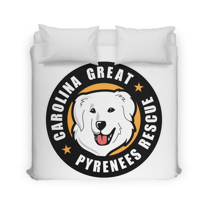 CGPR Logo Home Duvet by Carolina Great Pyrenees Rescue's Shop