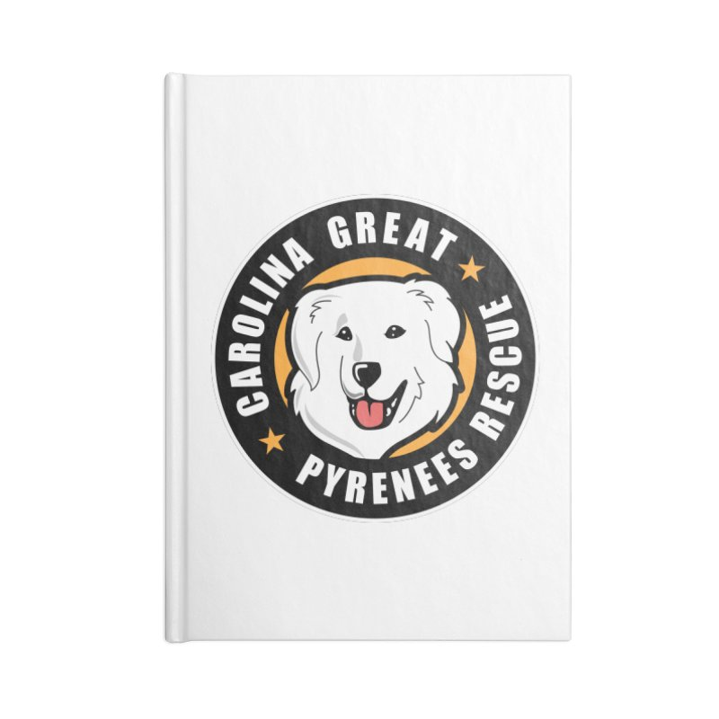 CGPR Logo Accessories Notebook by Carolina Great Pyrenees Rescue's Shop