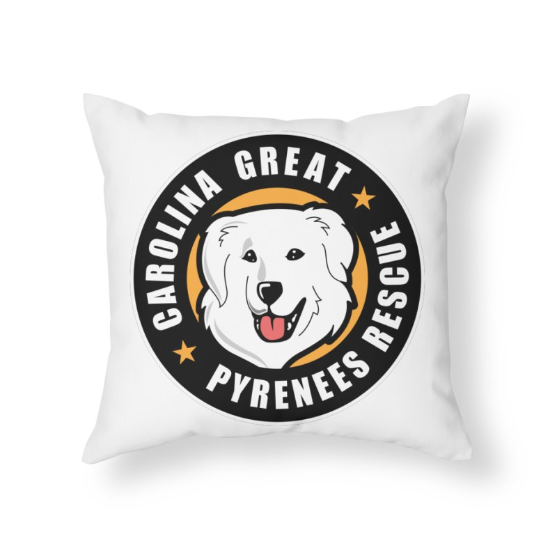 CGPR Logo Home Throw Pillow by Carolina Great Pyrenees Rescue's Shop
