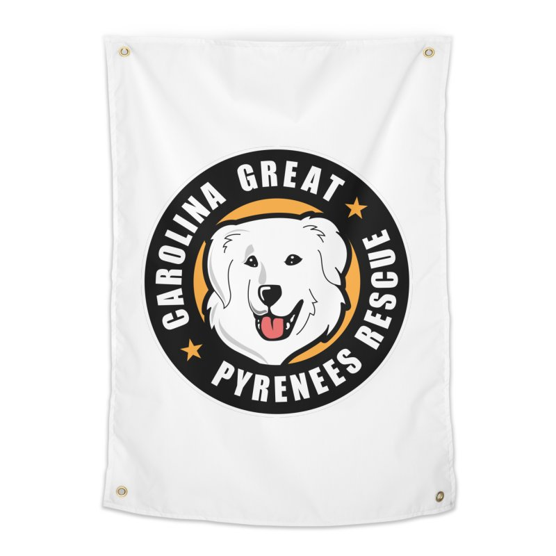 CGPR Logo Home Tapestry by Carolina Great Pyrenees Rescue's Shop