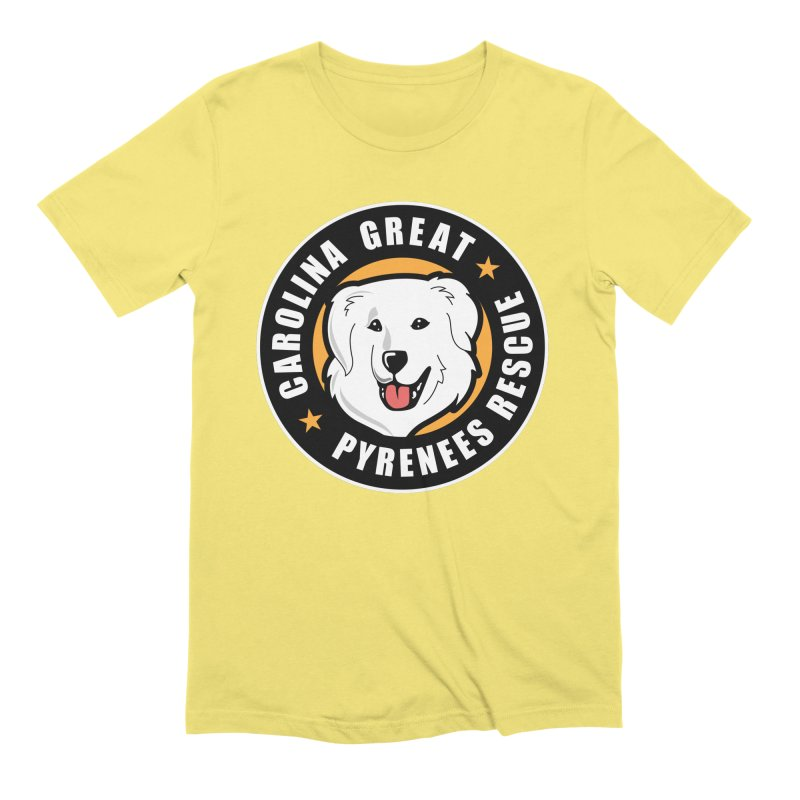 CGPR Logo Men's Extra Soft T-Shirt by Carolina Great Pyrenees Rescue's Shop
