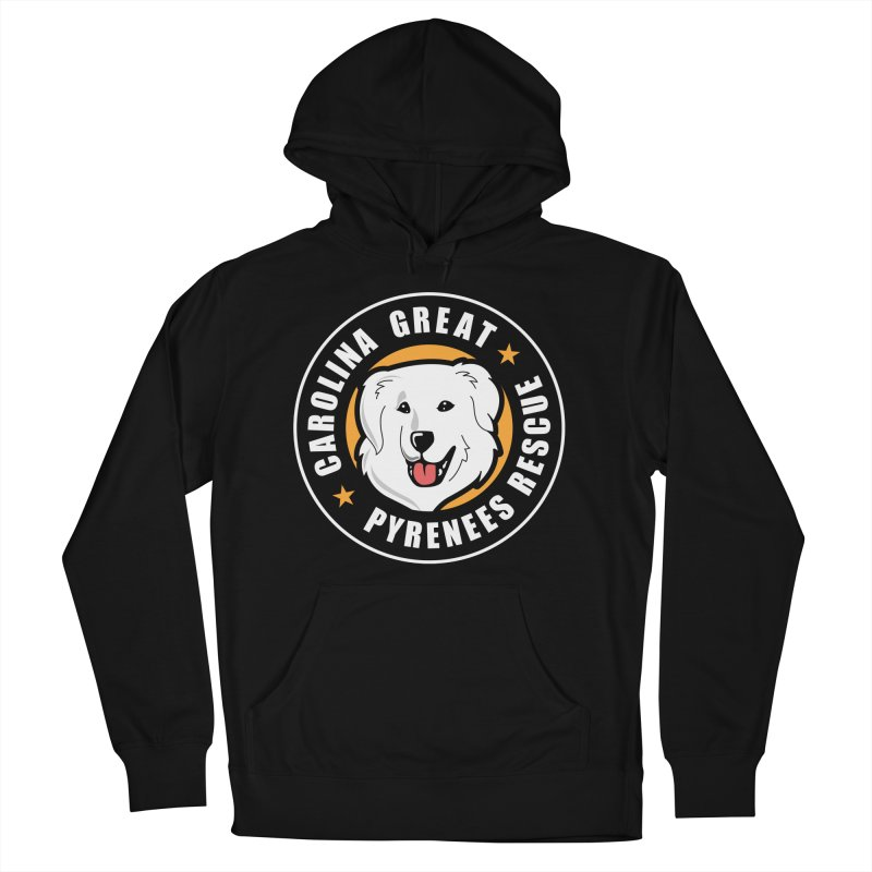 CGPR Logo Men's French Terry Pullover Hoody by Carolina Great Pyrenees Rescue's Shop
