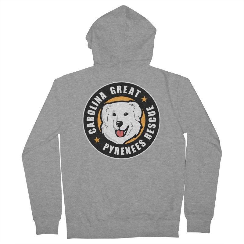 CGPR Logo Women's French Terry Zip-Up Hoody by Carolina Great Pyrenees Rescue's Shop