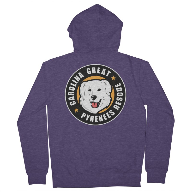 CGPR Logo Men's French Terry Zip-Up Hoody by Carolina Great Pyrenees Rescue's Shop