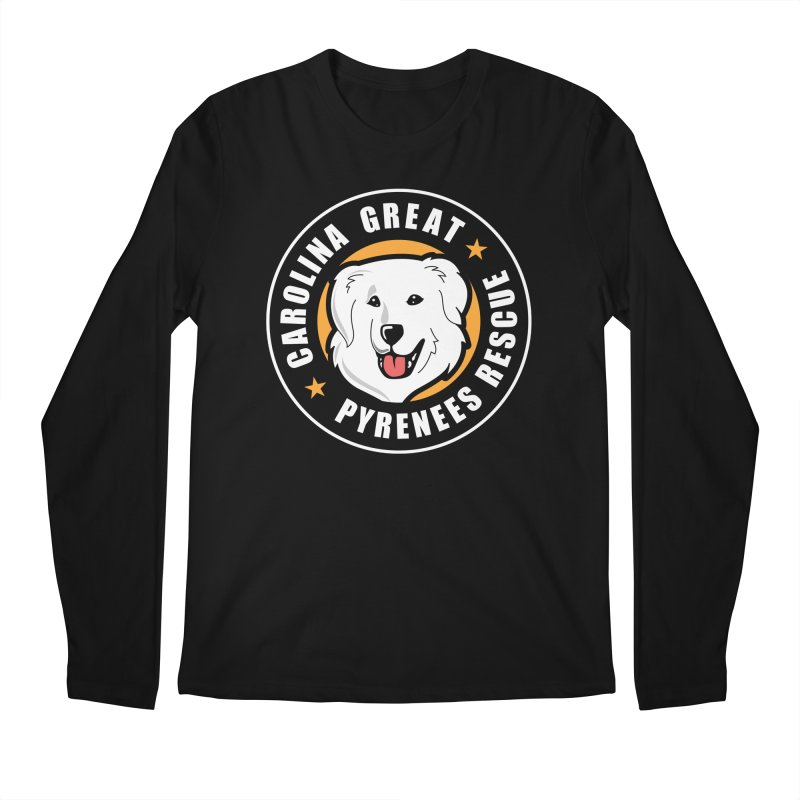 CGPR Logo Men's Regular Longsleeve T-Shirt by Carolina Great Pyrenees Rescue's Shop