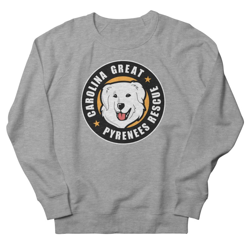 CGPR Logo Men's French Terry Sweatshirt by Carolina Great Pyrenees Rescue's Shop